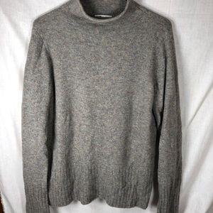 Madewell Cozy Yarn Grey Mockneck Sweater M